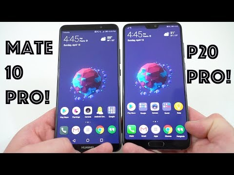 Compare smartphones: Huawei P20 Pro vs Huawei Mate 10 Pro